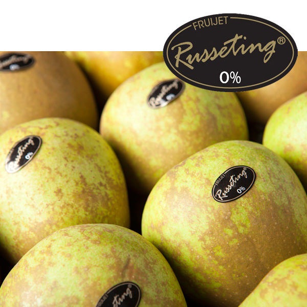 promo manzana Golden Russeting. Fruijet